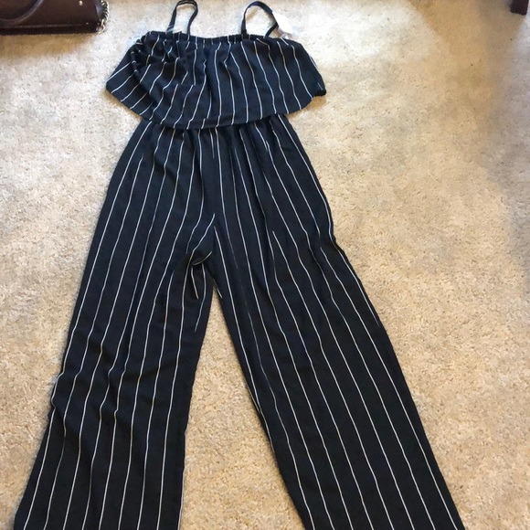 Time Tru Pants Nwt Time Tru Jumpsuit With Removable Straps